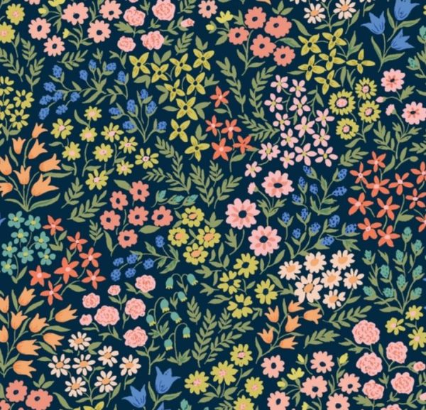 """tissu viscose """"cloud"""" fleurs des champs"""