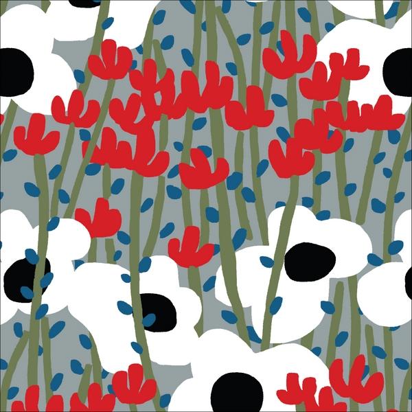 """tissu canvas """"wildlife"""" fleurs des champs BIO"""