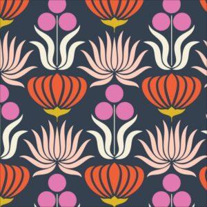 a walk remember fleurs graphique velour milleraies BIO