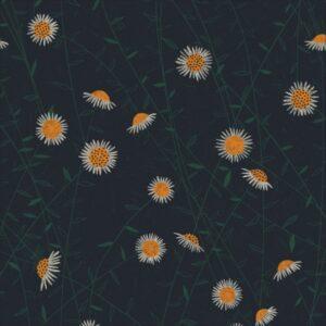 """tissu coton """"Bloom together"""" marguerites BIO"""