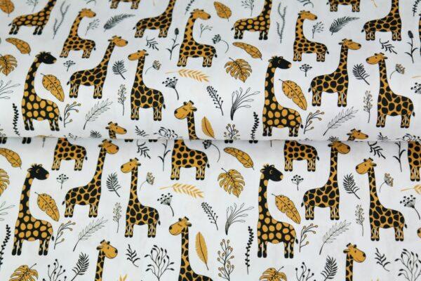 tissu double gaze girafes OEKO TEX
