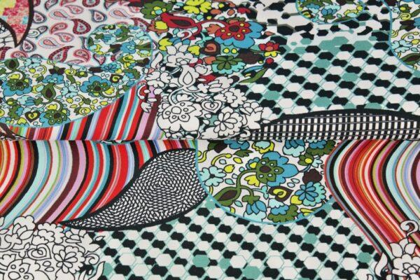 "tissu jersey digital ""fleurs & arabesques"" OEKO TEX"