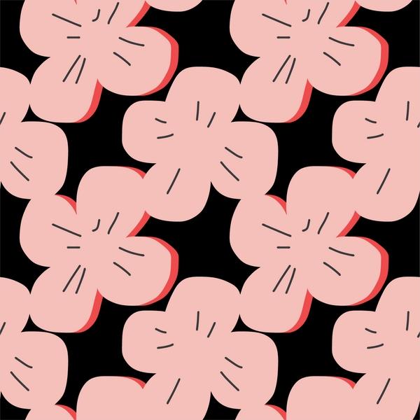 tissu coton enduit fleurs roses BIO