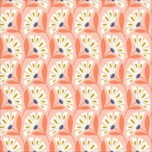 """tissu viscose """"Floral Déco"""" fleurs clochettes BIO tissu viscose """"Floral Déco"""" fleurs pastels BIO"""