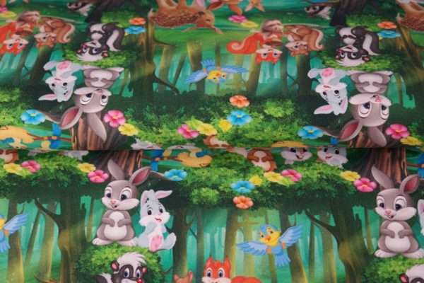 "jersey ""Bambi & Panpan"" OEKO TEX"