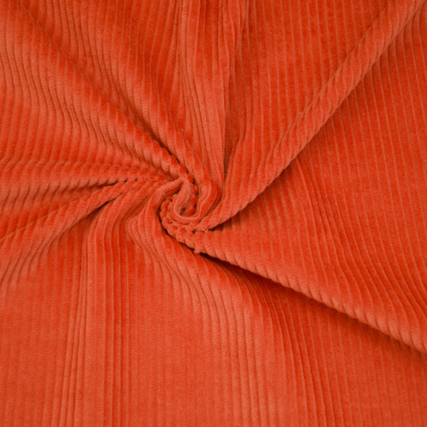 velours grosses côtes orange