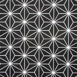 tissu coton étoiles origami noires OEKO TEX