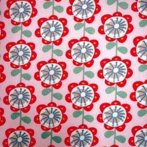 tissu coton fleurs psyché roses OEKO TEX
