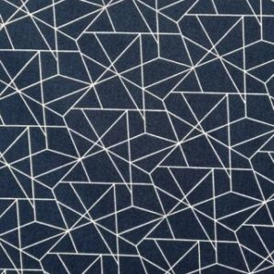 tissu coton géométrie marine OEKO TEX