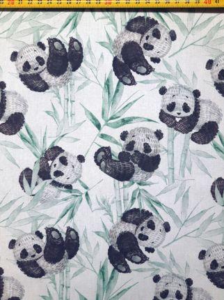 tissu coton Pandas OEKO TEX