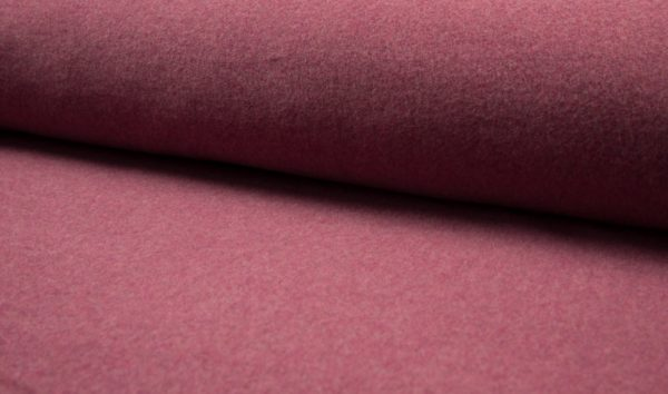 tissu polaire coton BIO bordeaux