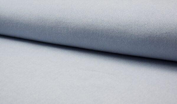 tissu polaire coton BIO bleu pâle