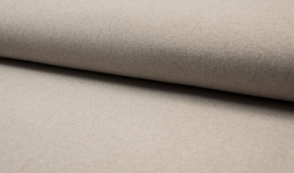 tissu polaire coton BIO taupe