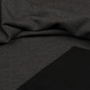 tissu sweat épais noir OEKO TEX