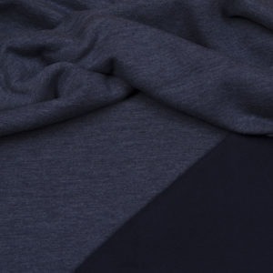 tissu sweat épais Bleu OEKO TEX