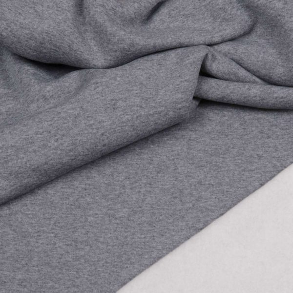 tissu sweat épais gris OEKO TEX