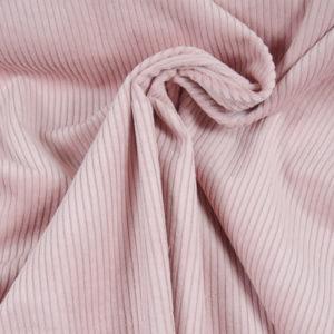 velours grosses côtes rose pâle